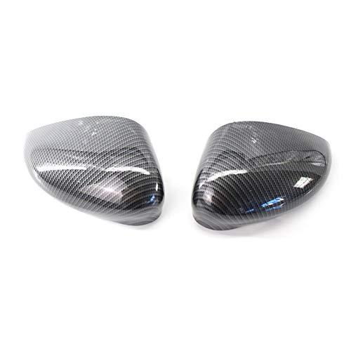 Reunion Par de Cubierta de ala de ala de Fibra de Carbono Cubierta Espejo Ajuste para Ford Fiesta MK7 09-15