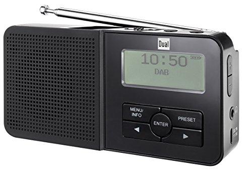 Dual DAB Pocket Radio 5–Radio digitale portatile (Sintonizzatore DAB +/DAB/FM, display OLED, Blocco tasti), colore nero (lingua italiana non garantita) con altoparlante integrato Nero