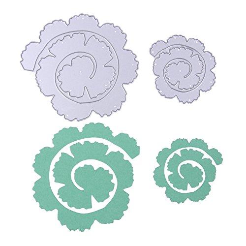 Demiawaking 2pcs Rosa Fustelle Stencil per DIY Scrapbooking Album per Biglietti per Goffratura Modello Dieci Stili (06)