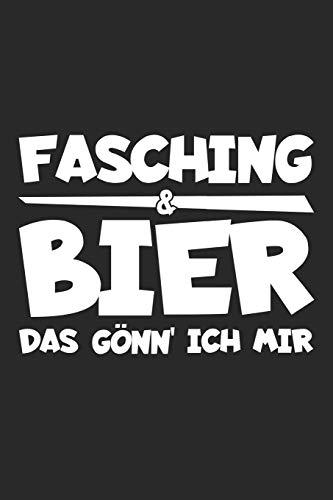 Fasching und Bier das gönn' ich mir: Notizbuch für Karneval Freunde A5 | Punkteraster