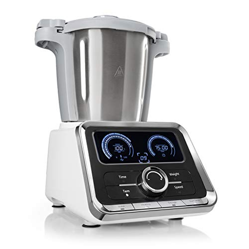 Klarstein GrandPrix - Robot de cocina, Batidora, Maquina de amasar, 500-1000W, Recipiente...