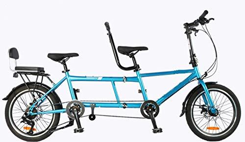 Padre E Figlio Madre E Figlio Pieghevole Coppia Viaggi E Visite Turistiche Bicicletta Tandem Per Due Persone In Sella a Una Doppia Bicicletta Genitore-Figlio Per Tre Persone Con Due Posti