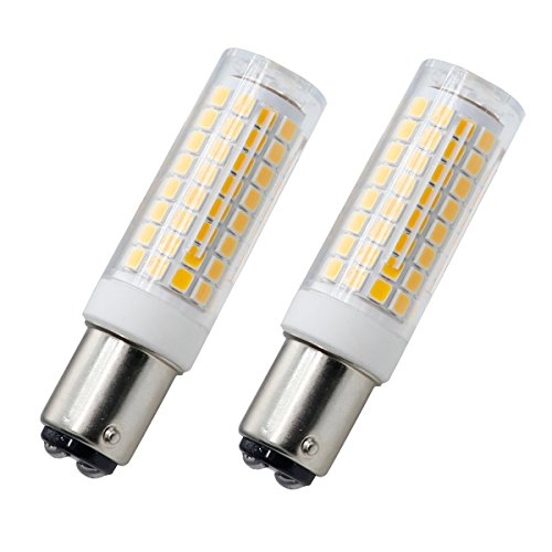 ba15d bulb, Dimmable All-New 102×2835SMD led ba15d Double Contact Bayonet Base bulb, 120V 7W Warm White 75W Halogen Replacement (2 Pack)