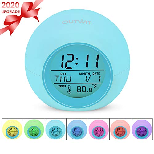 Outwit Kids Alarm Clock【2020 Version】, Student Digital Clock for Boys Girls, 7 Colors Changing...