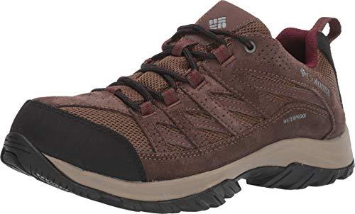 Columbia Women's Crestwood Waterproof Boot Hiking Shoe, Dark Truffle, Rich Wine, 10.5