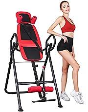 Inversiebank, inversietafel, rugtrainer, buiktrainer, inklapbaar, zwaartekrachttrainer met verstelbare hoofdsteun en veiligheidsgordel, smart trainer voor home workout, thuis