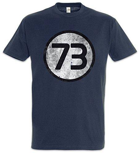 Urban Backwoods Black The Big Bang Number 73 Vintage III Logo Uomo T-ShirtBlu Taglia L