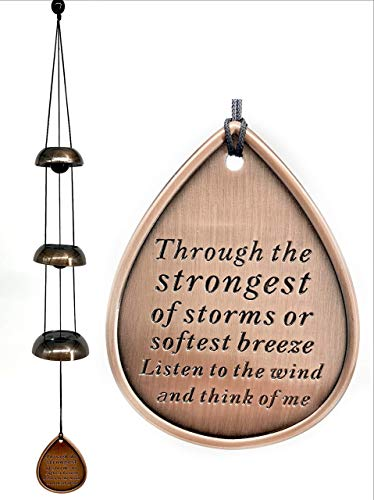 Direct Shipping Memorial Bells Wind Chimes USA Seller Gift after loss Bells Shipping for Funeral Loss in Memory of Loved One Through the Strongest of Storms Sympathy Wind Chimes