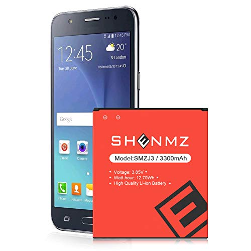 Galaxy On5 Battery (Upgraded) SHENMZ 3300mAh Replacement Battery for Samsung Galaxy On5 G550T1(MetroPCS) G550T(T-Mobile) SM-G550F/Samsung J3 Battery