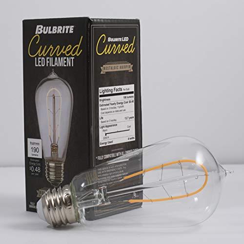 Bulbrite Dimmable 4W 2200K Vintage ST18 Filament LED Bulb