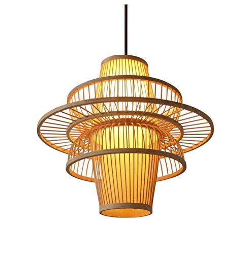 NIUZIMU hanglampen in Chinese stijl, retro hanglamp, van hout, met kop en lantaarn Tea Room Tea House Bamboo Light Restaurant