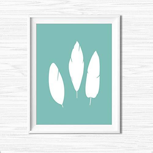 Leinwand Drucken Familie Schlafzimmer Wand Dekoration Malerei Schön Weiße Feder Modernen Einfacher Stil Kunst Poster,NoFrame,21x30cm
