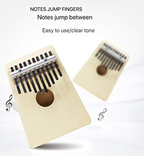 17-Tasten-Daumenklavier, Massivholz-Fingerklavier mit Musikbuchskalenaufklebern, die Hammermusikgeschenk stimmen