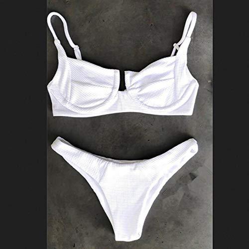 Dames Push-ups Plus gewatteerde bikiniset Badpak met hoge taille Effen kleur Badpak