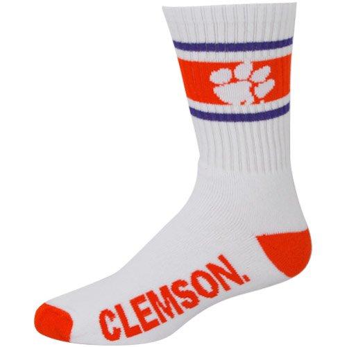 Clemson Tigers Striped Cushion Crew Socks