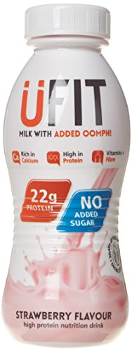 UFIT 310 ml Strawberry RTD High Protein Shake Drink - Pack of 8