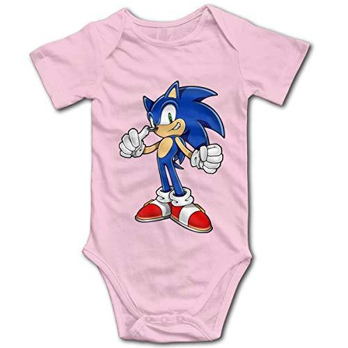 HGdggvd Igel Sonic Toddler Climbing Bodysuits, Baumwolle Kurzarm Baby Onesies Jumpsuit Kleidung