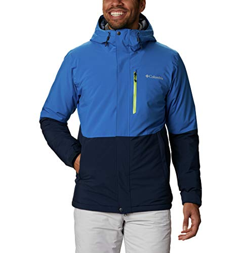 Columbia Winter District Chaqueta De Esquí con Capucha, Hombre, Azul (Collegiate Navy, Bright Indigo), XXL