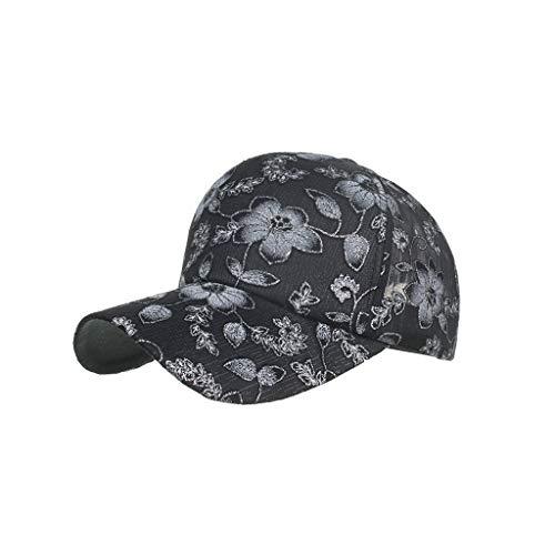 Saingace(TM) Spitze Baseball Cap ☼ Damen Glitter Blume Kappe Einstellbar Net Cap Basecap Einfache Lässige Gebogene Kappe Sonnenhut Hip Hop Baseballmütze für Draussen Sport Reisen