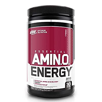 Optimum Nutrition Amino Energy Pre Workout Powder Keto Friendly with Beta Alanine, Caffeine, Amino Acids and Vitamin C, Cherry, 30 Servings, 270 g