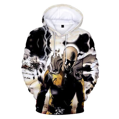 UMUSTY Männer und Frauen Langarm Hoodie Casual Sweatshirts 3D One Punch Man (12,XL)
