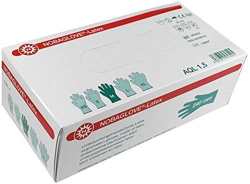 NOBAGLOVE-Latex Handschuhe puderfrei glatt Gr. M 100 St.