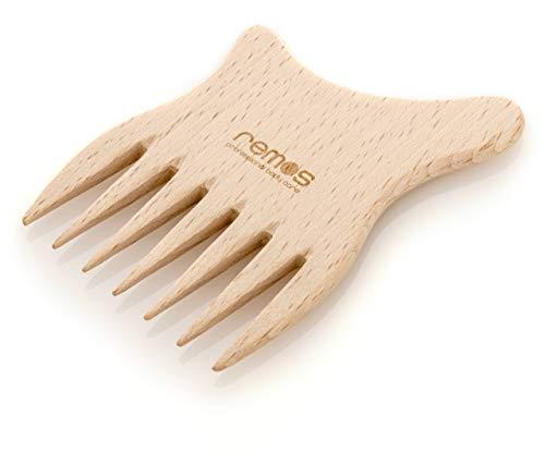 remos - pettine in legno di faggio tedesco - 8 cm