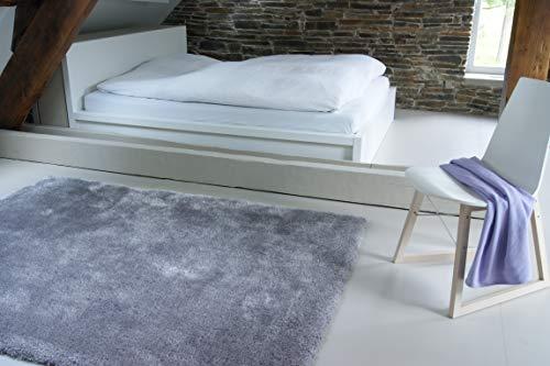 Moderner Teppich Seasons grau 160x230 cm - flauschig weicher Hochflor Teppich in aktuellen Trendfarben