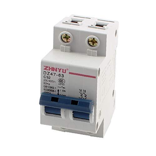 X-DREE AC 230V 400V 32A Interruptor de encendido y apagado bipolar 4000A(AC 230 ν 400 ν 32A ON-OFF Switch Double Pole Circuit Breaker 4000A