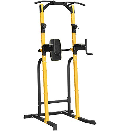 M HI-Mat Multifunctional Height Adjustable Power Tower, Home Gym Pull Rod Support for Strength Training