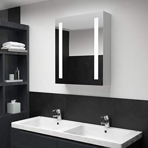 Festnight LED-Bad-Spiegelschrank Spiegel Badspiegel Hängeschrank 50 x 13 x 70 cm