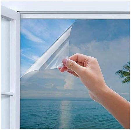 50 x 200 cm Pour bureau et maison Linarun Film r/éfl/échissant autocollant pour fen/être Protection contre les UV Argent/é