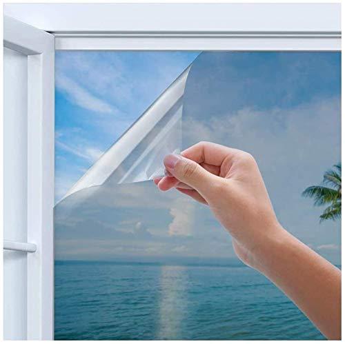 Fensterfolie Sichtschutzfolie Selbstklebend Spiegelfolie Sichtschutz Reflektierende Fensterfolie Wärmeisolierung Sonnenschutzfolie UV-Schutz Fensterfolie