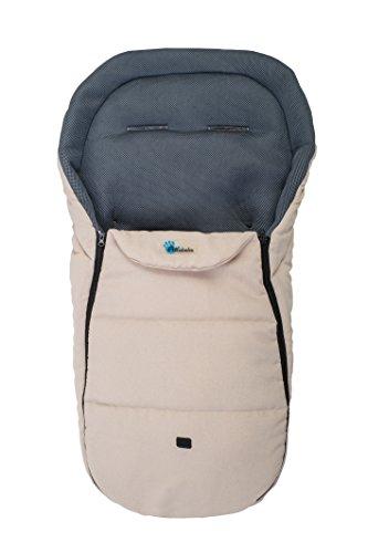 Altabebe AL2450LM - 22 Sommerfußsack für Kinderwagen 3D Abstandsgewebe, 12-36 Monate, beige