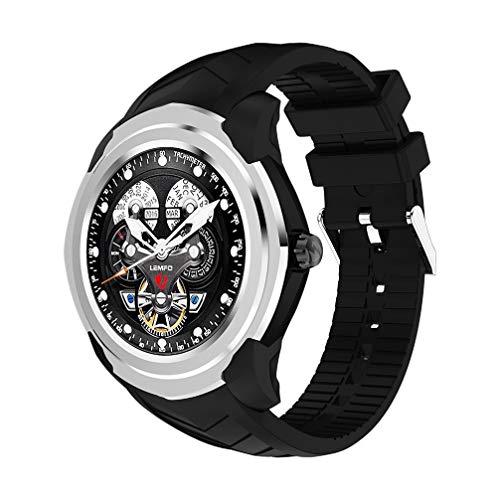 AUOKP Smart Watch für Android-Telefon 3G WiFi SIM Karte GPS mitMode Herren Pedometer Schlaf Monitor, schwarz