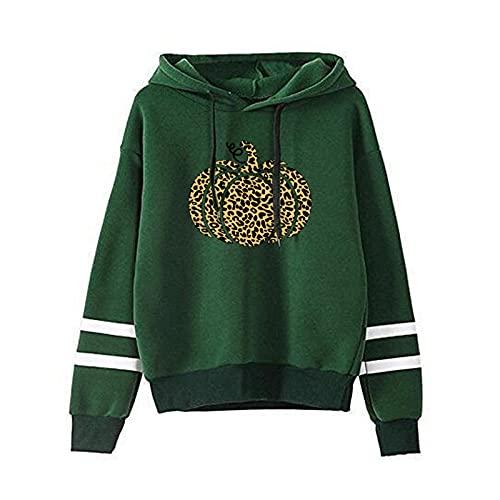 여성 할로윈 호박 프린트 후디 탑 가을 패션 캐주얼 롱 슬리브 루즈 후드 스위트셔츠