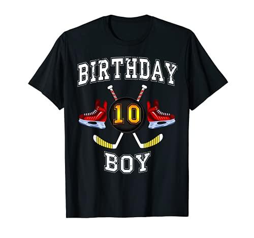 10 Geburtstagst shirt - Eishockey T-Shirt 10 Jahre alt