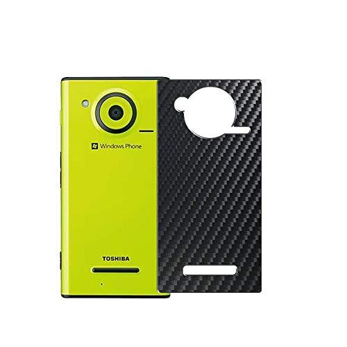 VacFun 2 Piezas Protector de pantalla Posterior, compatible con Fujitsu Toshiba Windows Phone IS12T au, Película de Trasera de Fibra de carbono negra