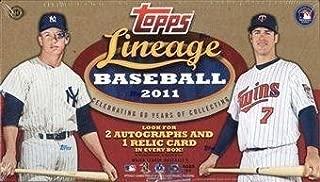 2011 Topps Lineage Baseball Box Baseball Hobby Box - MLB Cards
