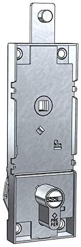 Cerradura para basculante/Garaje Cilindro de Perfil Europeo Entre Ejes 70 mm con Palanca de desbloqueo antirrobo, Llaves Perforadas