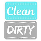 ENVIX Dishwasher Magnet Clean Dirty Sign Double Sided Magnet Flip with Magnetic Plate Kitchen Dish Washer Reversible Indicator Aqua
