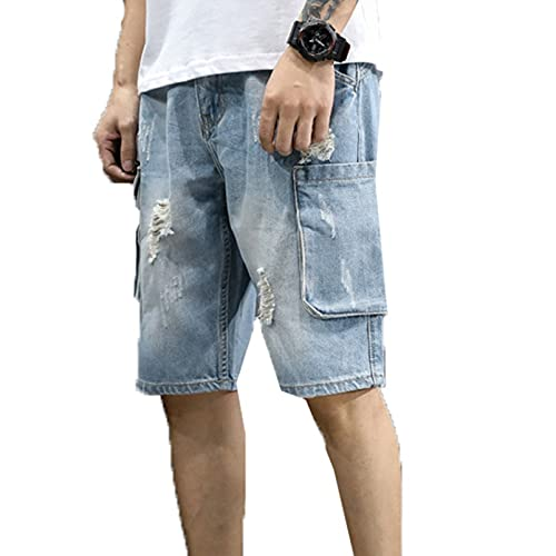 デニムパンツ ハーフパンツ メンズ 短パン ダメージジーンズ ヒゲ加工 ウォッシュ ヴィンテージ 半ズボン 5分丈 スポーツ たんぱん ランニング 前開きジッパー ショートパンツ メンズ かっこいい 夏 ストレート