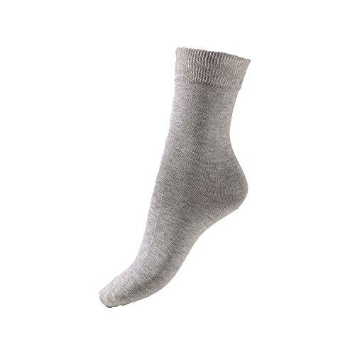 GoWell Med X-Static - Socken mit antimikrobieller Silber-Faser - perfekt bei Diabetes, Allergien, Fußgeruch, Fußschweiß & senbsiblen oder temperaturempfindlichen Füßen - Größe V - Farbe grau