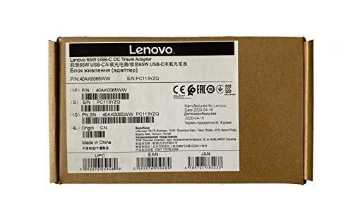 Lenovo 65W USB-C DC Travel Adapter **New Retail**, 40AK0065WW (**New Retail**)