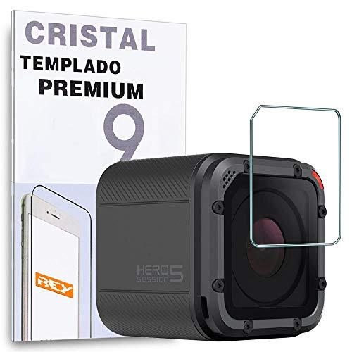 REY Protector de Pantalla para GOPRO Hero Session/GOPRO Hero 5 Session/GOPRO Hero 4, Cristal Vidrio Templado Premium