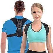 Haltungskorrektor Geradehalter Rückenstütze Rückentrainer Schultergurt Haltungstrainer Posture Corrector für Nacken Rücken Schulterschmerzen für Herren und Damen (Größe: L)