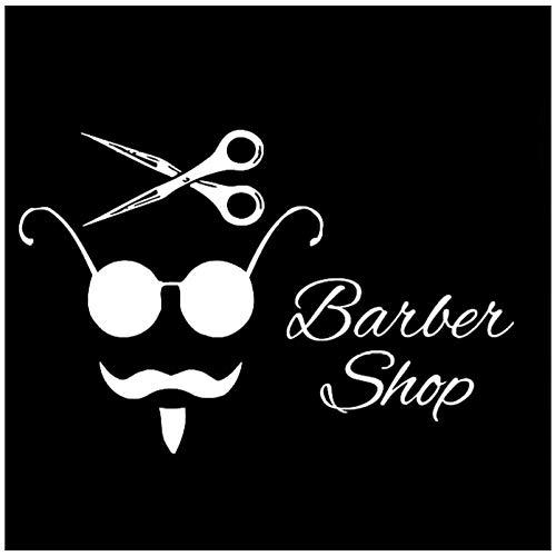 Autosticker kapper, vinyl, pvc, decoratieve ramen, bumper, laptop, koffer, sticker, 12 x 14 cm, 5 stuks