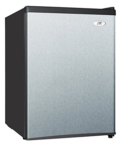 Sunpentown RF-244SS 2.4 cu.ft. Compact Refrigerator with Energy Star-Stainless Steel, Cubic Feet, Gray