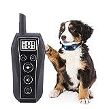 Domipet Collare Addestramento per Cani con Telecomando, Collare Antiabbaio Cane Ricaricabile con Forti Vibrazioni e Suono, Impermeabile al 100%, Portata Fino a 600m