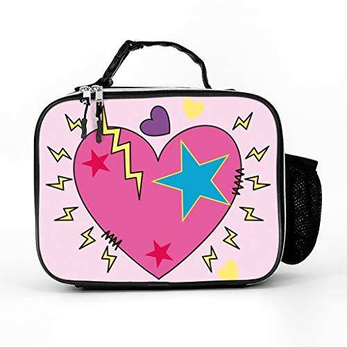 AXGM Bolsa isotérmica eléctrica con diseño de corazón rosa para almuerzo, bolsa...